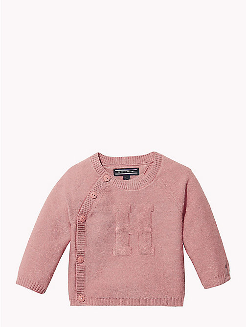 TOMMY HILFIGER Baby Knitted Logo Cardigan - BLUSH - TOMMY HILFIGER Girls - main image