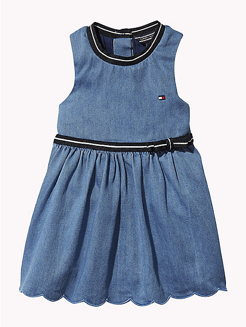 TOMMY HILFIGER Abitino giromanica in denim - REDDING LIGHT - TOMMY HILFIGER Neonata - immagine principale