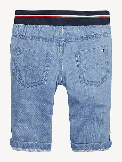 TOMMY HILFIGER Signature Tape Waistband Baby Jeans - REDDING LIGHT - TOMMY HILFIGER Boys - detail image 1