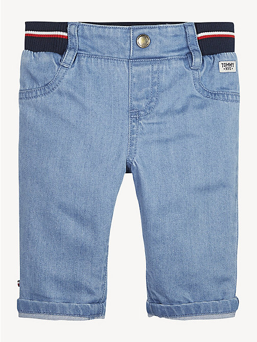 TOMMY HILFIGER Signature Tape Waistband Baby Jeans - REDDING LIGHT - TOMMY HILFIGER Boys - main image