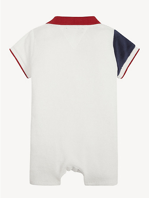 TOMMY HILFIGER Baby Flag Polo Romper - APPLE RED/MULTI - TOMMY HILFIGER Boys - detail image 1