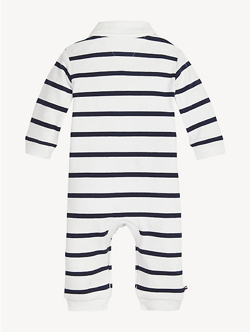 TOMMY HILFIGER Baby Pure Cotton Rugby Babygrow - BLACK IRIS / BRIGHT WHITE - TOMMY HILFIGER Boys - detail image 1