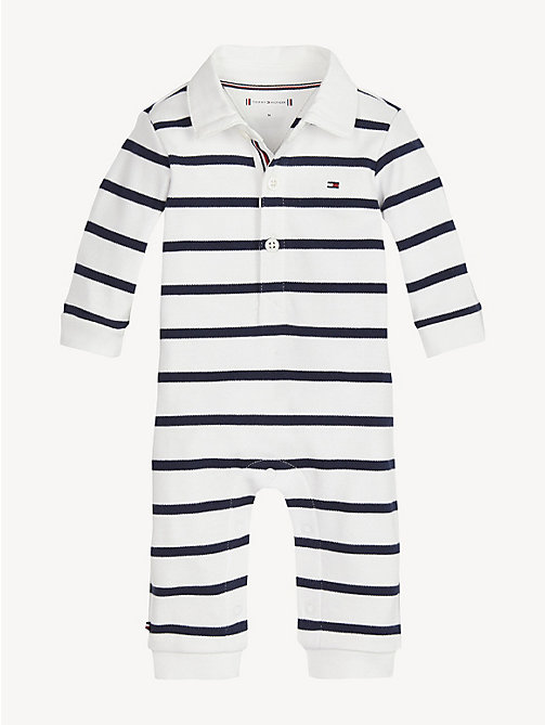 TOMMY HILFIGER Baby Pure Cotton Rugby Babygrow - BLACK IRIS / BRIGHT WHITE - TOMMY HILFIGER Boys - main image