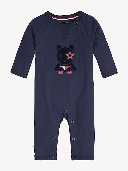 TOMMY HILFIGER Baby Mascot Babygrow - BLACK IRIS - TOMMY HILFIGER Boys - main image