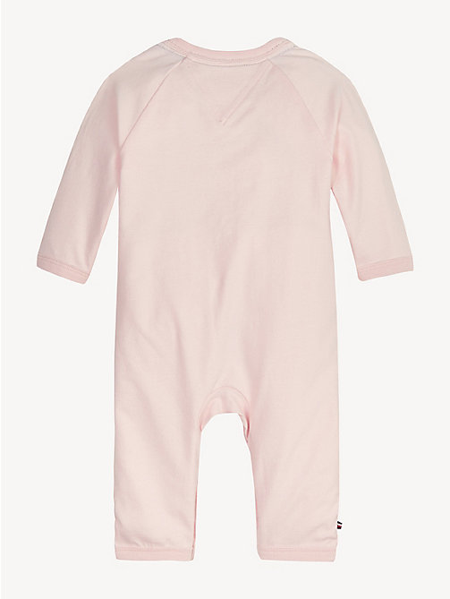 TOMMY HILFIGER Baby Mascot Babygrow - STRAWBERRY CREAM - TOMMY HILFIGER Girls - detail image 1