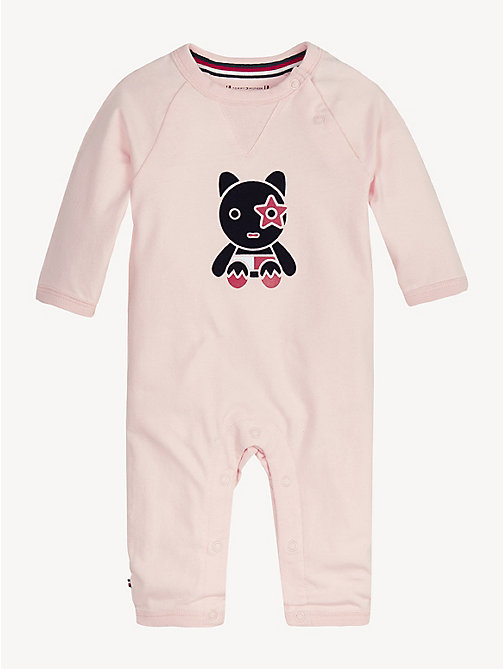 TOMMY HILFIGER Baby Mascot Babygrow - STRAWBERRY CREAM - TOMMY HILFIGER Girls - main image