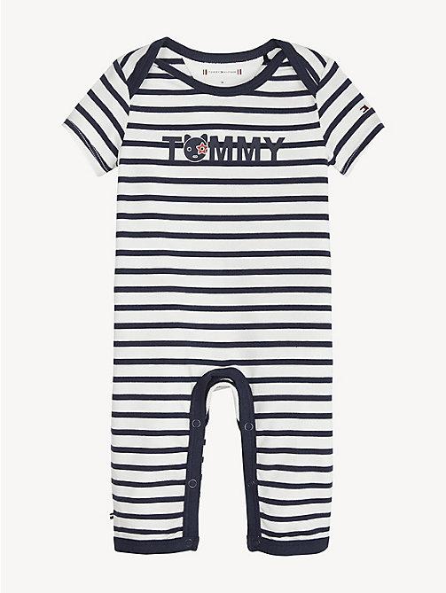e431e5fb3423d7 blue baby stripe babygrow for newborn tommy hilfiger