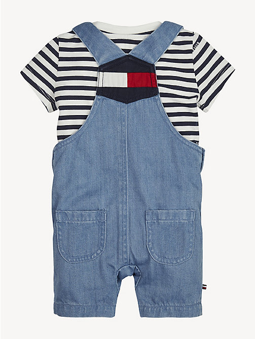 TOMMY HILFIGER Baby Denim Dungaree Set - REDDING LIGHT - TOMMY HILFIGER Boys - detail image 1