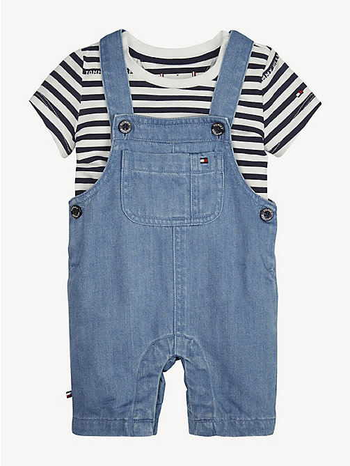 TOMMY HILFIGER Baby Denim Dungaree Set - REDDING LIGHT - TOMMY HILFIGER Boys - main image