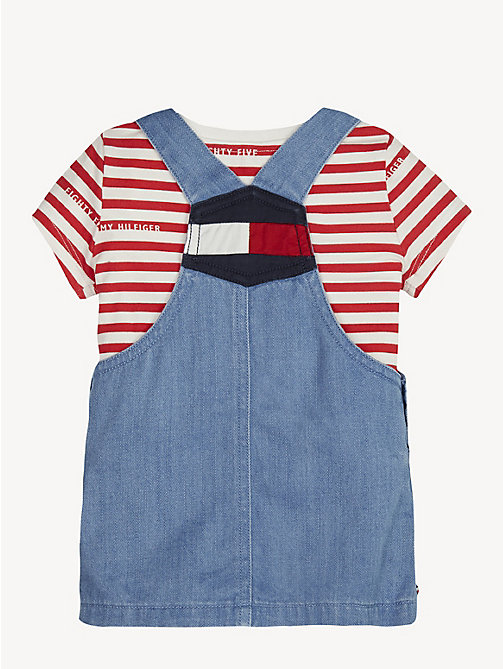 TOMMY HILFIGER Baby Dungaree Dress Set - REDDING LIGHT - TOMMY HILFIGER Girls - detail image 1