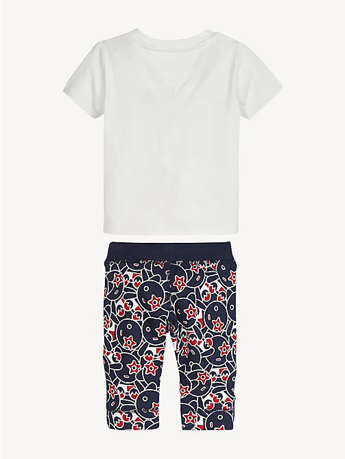 TOMMY HILFIGER Baby Mascot Top And Jogger Set - BRIGHT WHITE / BLACK IRIS - TOMMY HILFIGER Boys - detail image 1