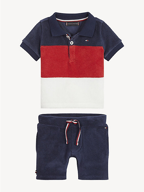 TOMMY HILFIGER Baby Towelling 2-Piece - BLACK IRIS / MULTI - TOMMY HILFIGER Boys - main image