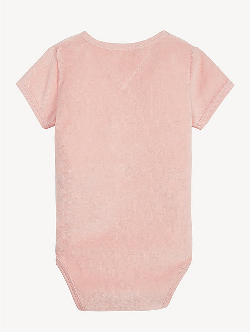 TOMMY HILFIGER Baby Towelling Bodysuit - STRAWBERRY CREAM - TOMMY HILFIGER Girls - detail image 1
