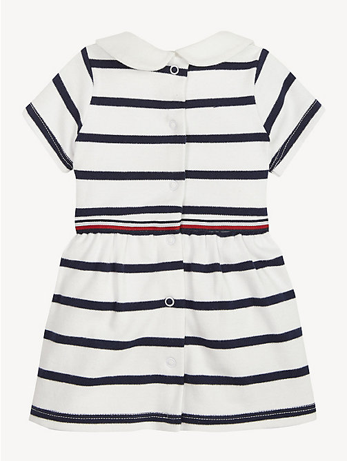 TOMMY HILFIGER Baby Rugby Stripe Cotton Dress - BLACK IRIS / BRIGHT WHITE - TOMMY HILFIGER Girls - detail image 1