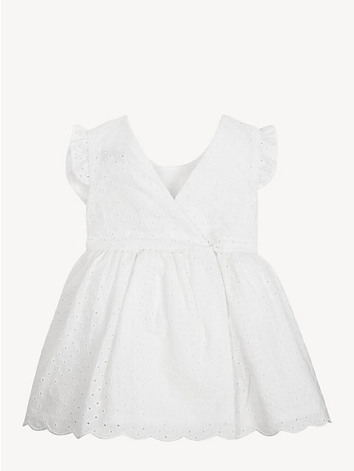 TOMMY HILFIGER Baby Broderie Cotten Dress - BRIGHT WHITE - TOMMY HILFIGER Girls - detail image 1