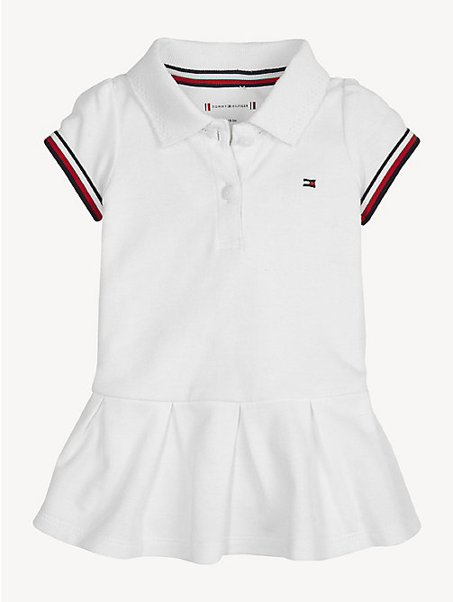 TOMMY HILFIGER Baby Polo Dress - BRIGHT WHITE - TOMMY HILFIGER Girls - main image