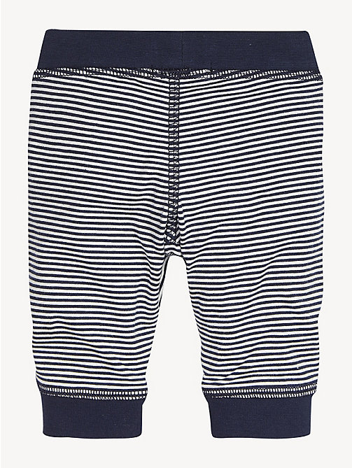 TOMMY HILFIGER Stripe Cotton Baby Bottoms - BLACK IRIS / BRIGHT WHITE - TOMMY HILFIGER Boys - detail image 1