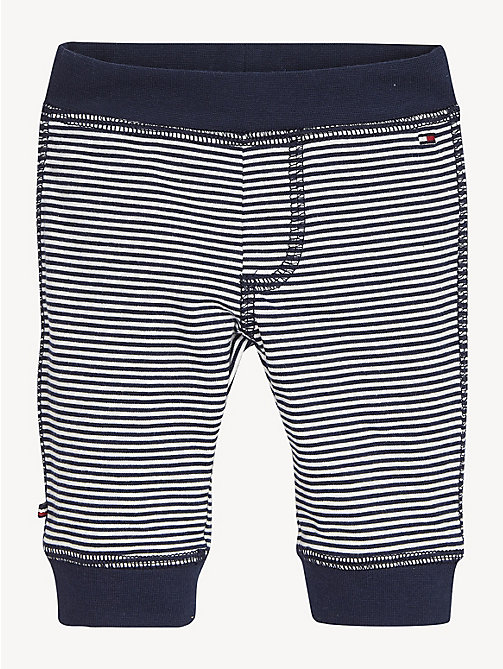 TOMMY HILFIGER Stripe Cotton Baby Bottoms - BLACK IRIS / BRIGHT WHITE - TOMMY HILFIGER Boys - main image