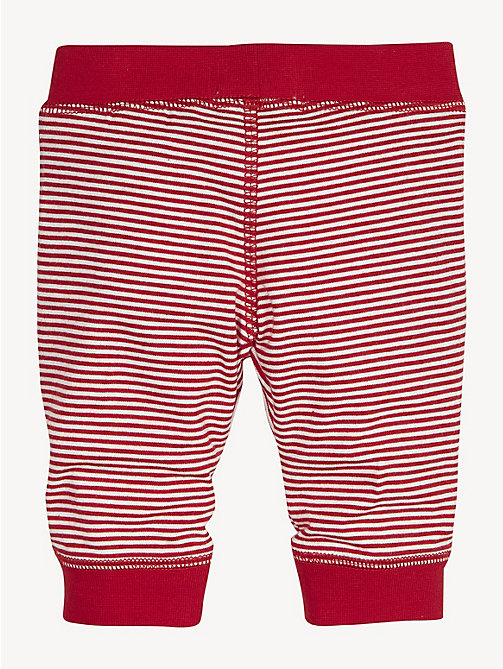 TOMMY HILFIGER Stripe Cotton Baby Bottoms - APPLE RED / BRIGHT WHITE - TOMMY HILFIGER Boys - detail image 1
