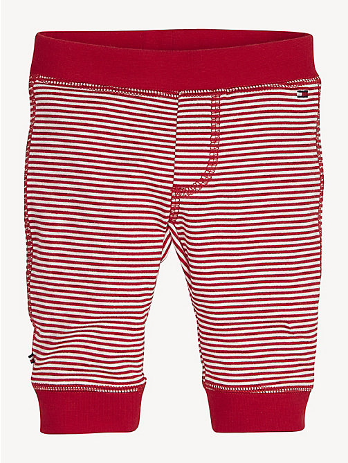 TOMMY HILFIGER Stripe Cotton Baby Bottoms - APPLE RED / BRIGHT WHITE - TOMMY HILFIGER Boys - main image
