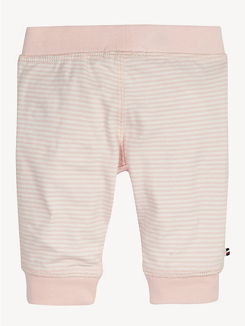 TOMMY HILFIGER Stripe Cotton Baby Bottoms - STRAWBERRY CREAM/BRIGHT WHITE - TOMMY HILFIGER Girls - detail image 1