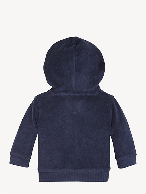 TOMMY HILFIGER Baby Towelling Hoody - BLACK IRIS - TOMMY HILFIGER Boys - detail image 1