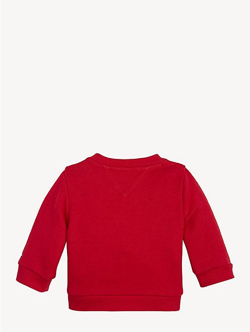 TOMMY HILFIGER Baby Mascot Cotton Terry Sweatshirt - APPLE RED - TOMMY HILFIGER Boys - detail image 1