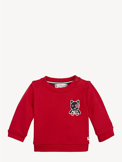 TOMMY HILFIGER Baby Mascot Cotton Terry Sweatshirt - APPLE RED - TOMMY HILFIGER Boys - main image