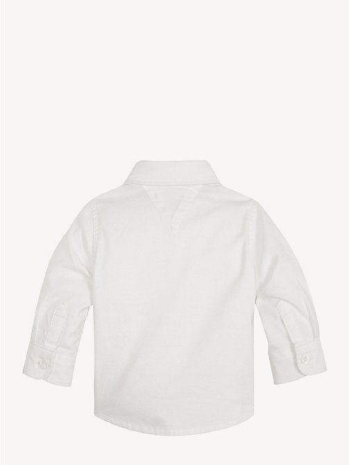 TOMMY HILFIGER Baby Cotton Blend Oxford Shirt - BRIGHT WHITE - TOMMY HILFIGER Boys - detail image 1