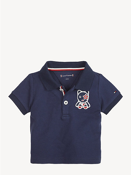 TOMMY HILFIGER Baby Mascot Polo Shirt - BLACK IRIS - TOMMY HILFIGER Boys - main image