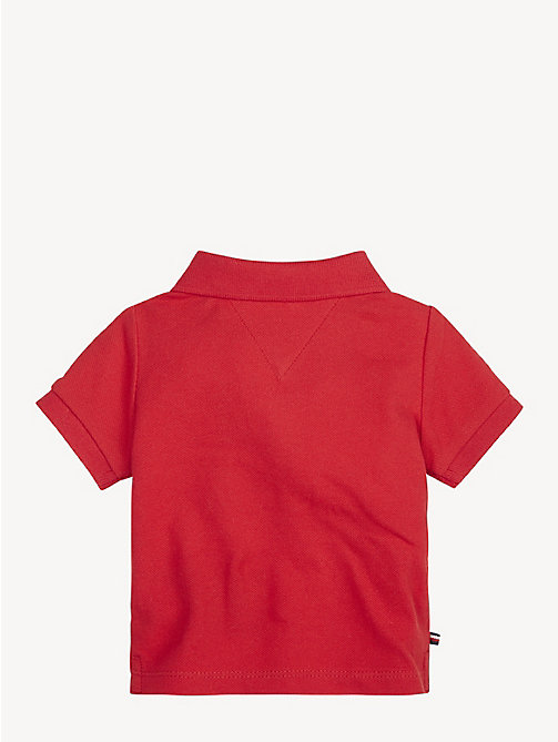 TOMMY HILFIGER Baby Mascot Polo Shirt - APPLE RED - TOMMY HILFIGER Boys - detail image 1