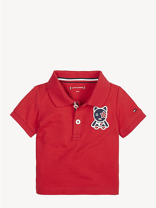 TOMMY HILFIGER Baby Mascot Polo Shirt - APPLE RED - TOMMY HILFIGER Boys - main image
