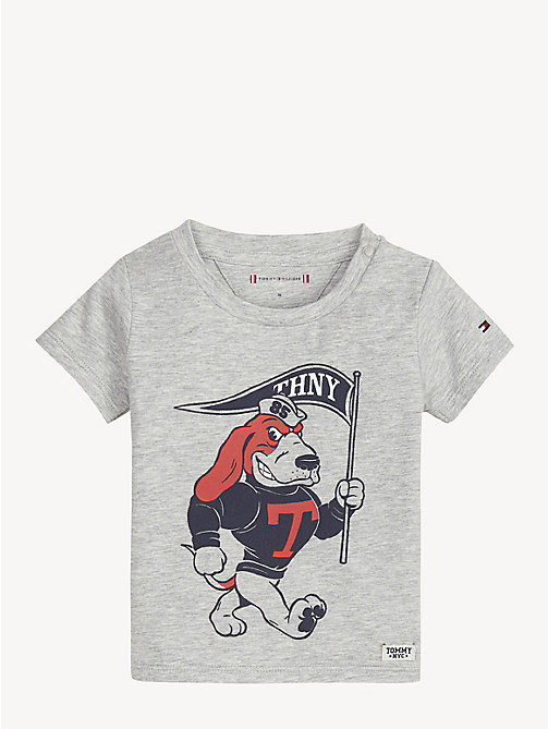 TOMMY HILFIGER Baby Doggie T-Shirt - GREY HEATHER - TOMMY HILFIGER Boys - main image