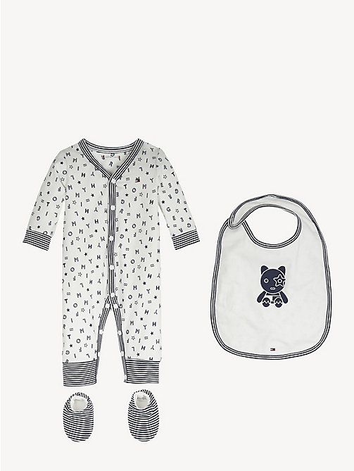 TOMMY HILFIGER Baby Bodysuit Gift Box - BLACK IRIS / BRIGHT WHITE - TOMMY HILFIGER Boys - main image