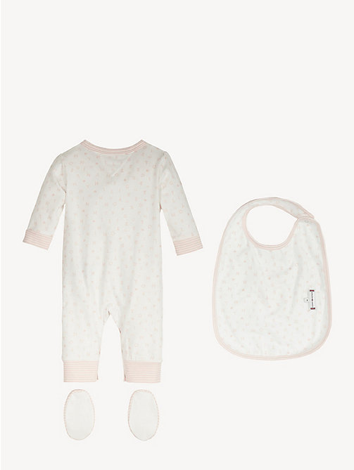 TOMMY HILFIGER Baby Bodysuit Gift Box - STRAWBERRY CREAM/BRIGHT WHITE - TOMMY HILFIGER Boys - detail image 1