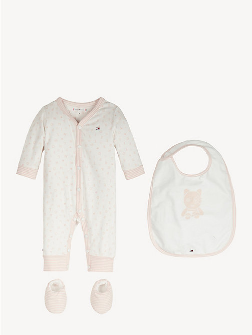 TOMMY HILFIGER Baby Bodysuit Gift Box - STRAWBERRY CREAM/BRIGHT WHITE - TOMMY HILFIGER Boys - main image