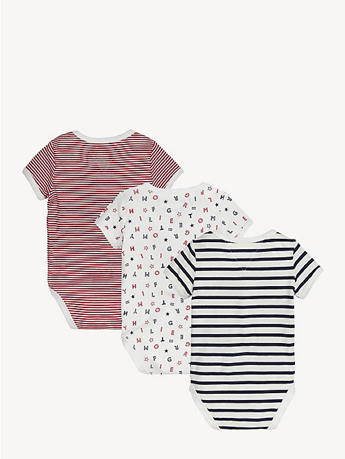 TOMMY HILFIGER Babycadeaubox met 3 rompers - APPLE RED/MULTI - TOMMY HILFIGER Jongens - detail image 1