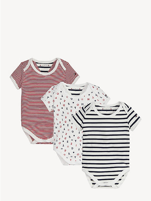 TOMMY HILFIGER Babycadeaubox met 3 rompers - APPLE RED/MULTI - TOMMY HILFIGER Jongens - main image