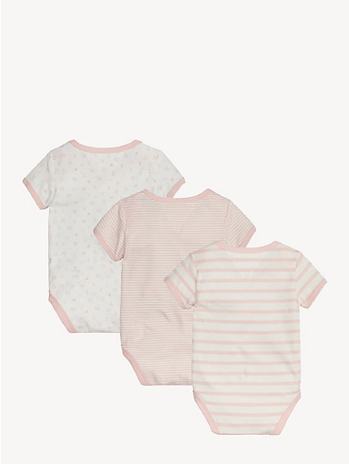 TOMMY HILFIGER Babycadeaubox met 3 rompers - STRAWBERRY CREAM/BRIGHT WHITE - TOMMY HILFIGER Jongens - detail image 1