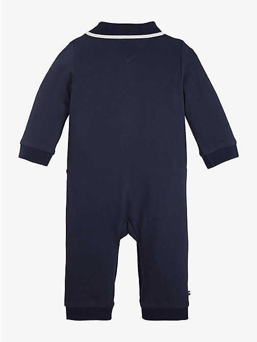 TOMMY HILFIGER Baby Flag Coverall - BLACK IRIS / MULTI - TOMMY HILFIGER Boys - detail image 1