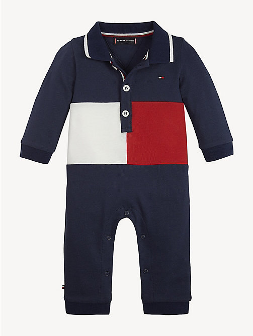 TOMMY HILFIGER Baby Flag Coverall - BLACK IRIS / MULTI - TOMMY HILFIGER Boys - main image