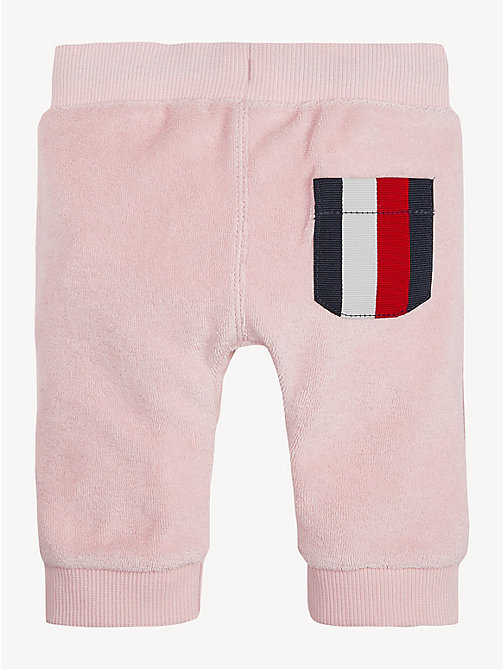 TOMMY HILFIGER Contrast Pocket Baby Joggers - STRAWBERRY CREAM - TOMMY HILFIGER Girls - detail image 1