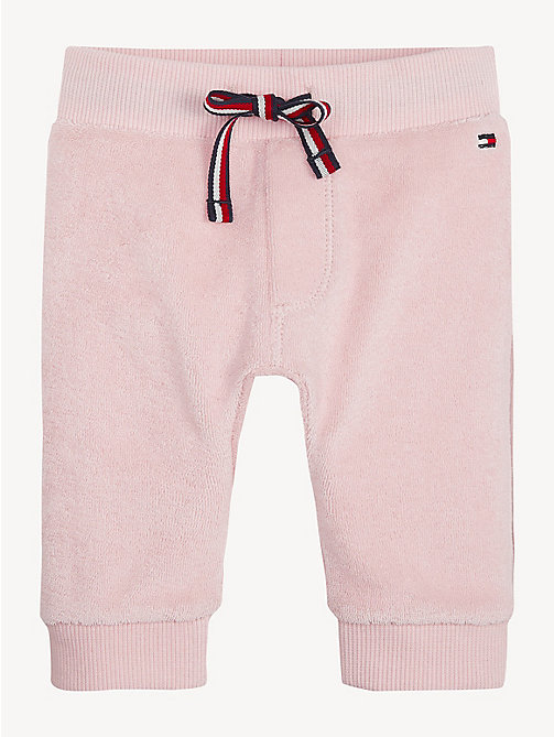 TOMMY HILFIGER Contrast Pocket Baby Joggers - STRAWBERRY CREAM - TOMMY HILFIGER Girls - main image