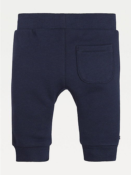 TOMMY HILFIGER Baby Colour-Blocked Cotton Joggers - BLACK IRIS / MULTI - TOMMY HILFIGER Boys - detail image 1