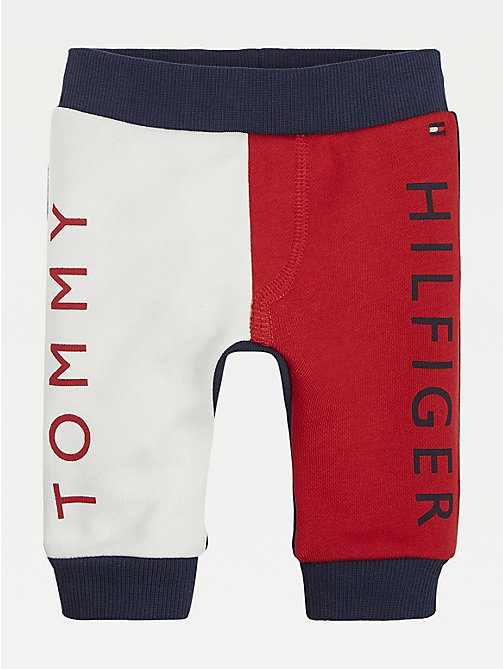 TOMMY HILFIGER Baby Colour-Blocked Cotton Joggers - BLACK IRIS / MULTI - TOMMY HILFIGER Boys - main image