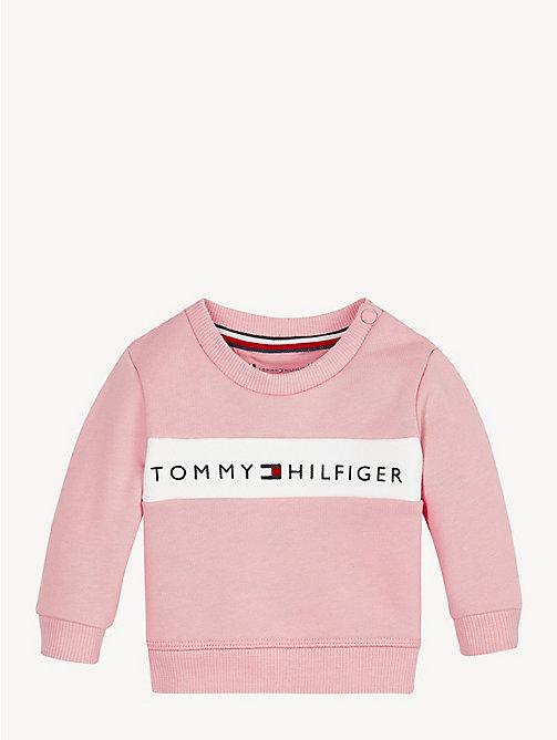 c61a4dc6db9f pink baby cotton logo sweatshirt for newborn tommy hilfiger