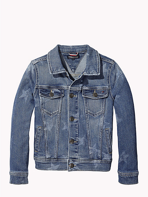 TOMMY HILFIGER Star Print Denim Jacket - MID BLUE STAR STRETCH - TOMMY HILFIGER Coats & Jackets - detail image 1