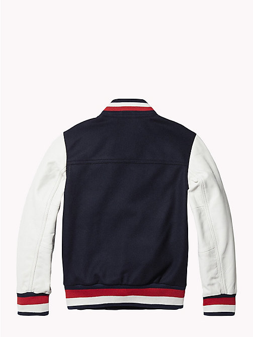 TOMMY HILFIGER Unisex 1985 Varsity Jacket - SKY CAPTAIN/SNOW WHITE -  Coats & Jackets - detail image 1