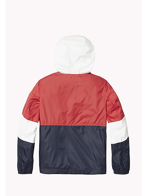 TOMMY HILFIGER Signature Colour-Blocked Anorak - SKY CAPTAIN / MULTI - TOMMY HILFIGER Coats & Jackets - detail image 1