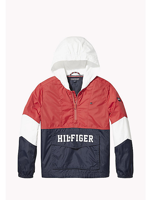 TOMMY HILFIGER Signature Colour-Blocked Anorak - SKY CAPTAIN / MULTI - TOMMY HILFIGER Coats & Jackets - main image